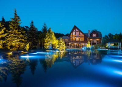 Подсветка плавательного пруда