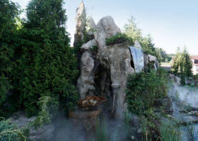 Интерактивный водопад грот