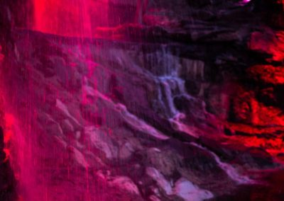 Освещение Водопады