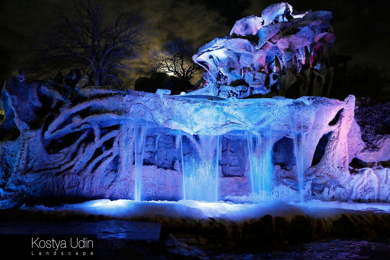 Ландшафт для ночных водопадов