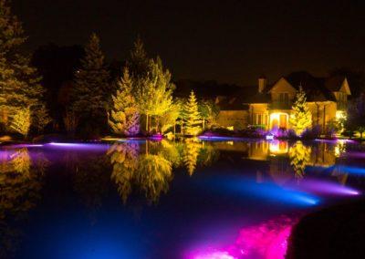 Плавательный пруд ночные фото