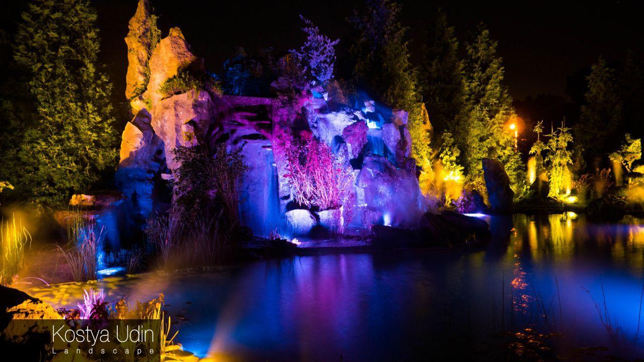 Интерактивный водопад на участке