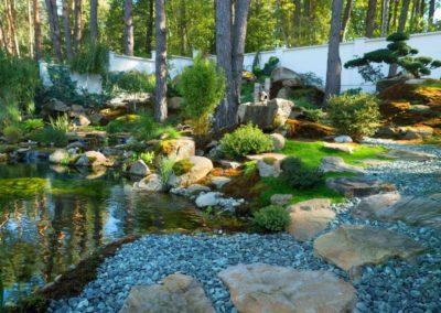 Декоративный пруд в японской стилистике
