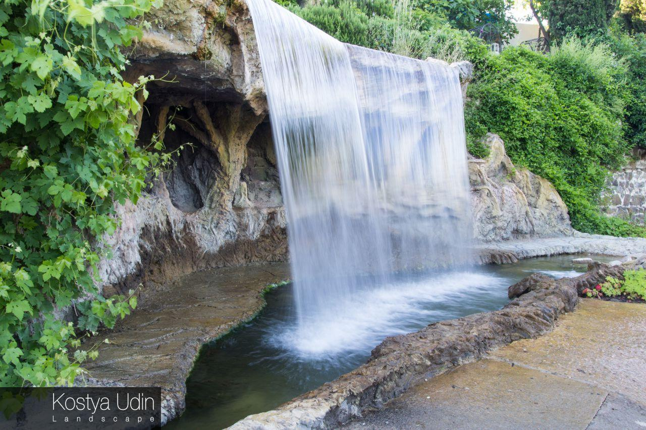 Пример работы по благоустройству для водопадов