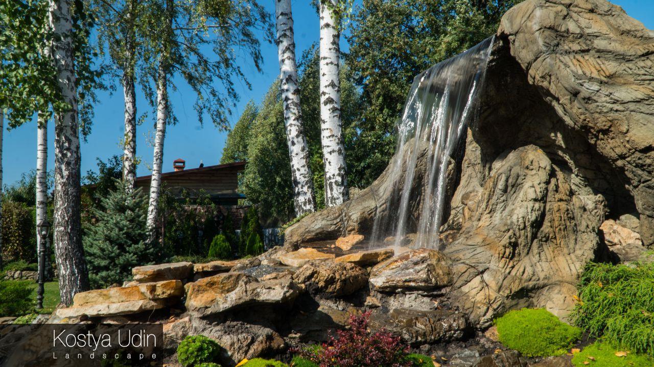 Водопад для частного дома