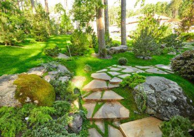 Дорожка с натурального камня