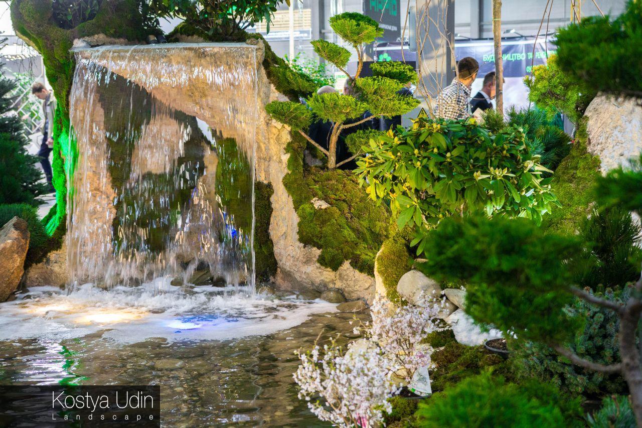 Декоративный водопад с выставки