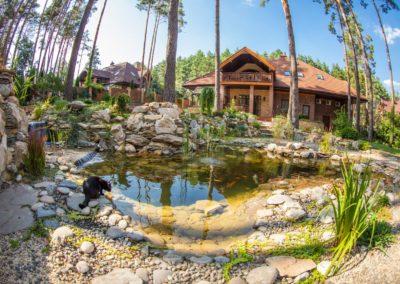 Декоративный пруд с карпами Кои