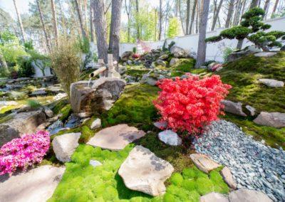 Японский сад с цукубаем