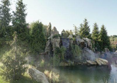 Интерактивная Скала Водопад