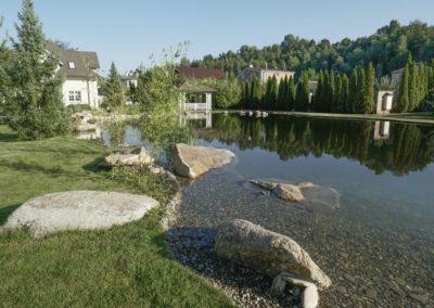 Плавательный пруд для частной усадьбы
