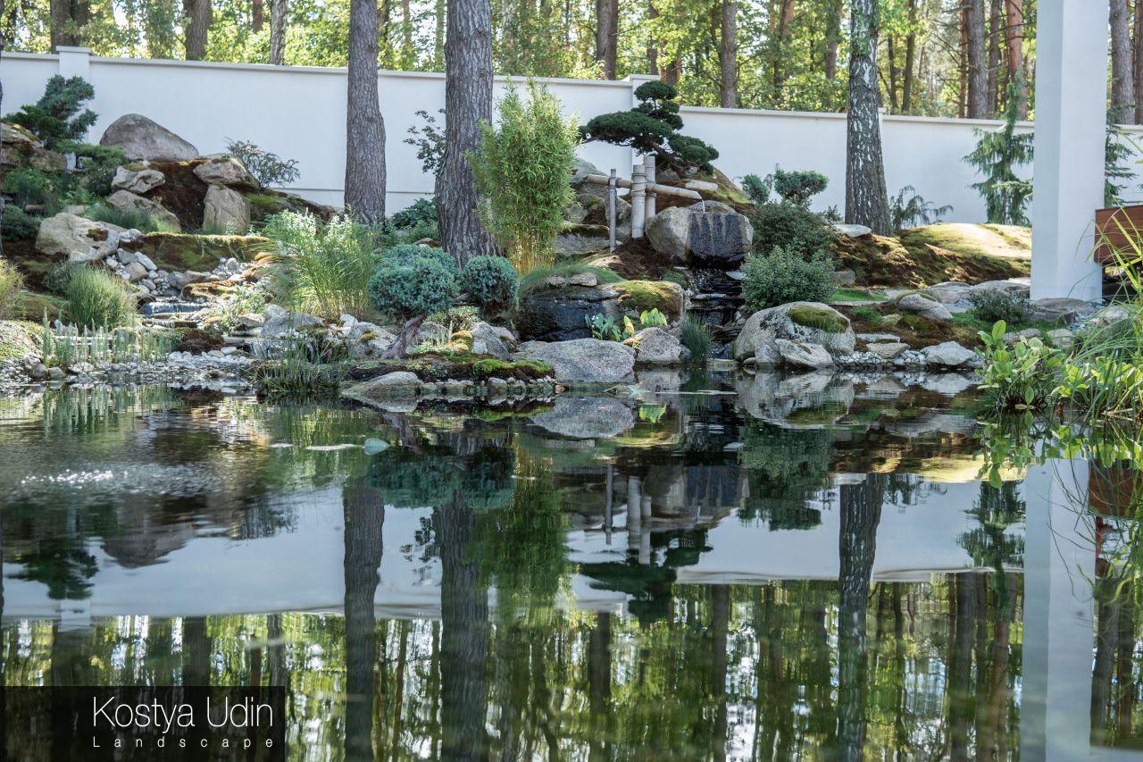 Японское озеро в саду