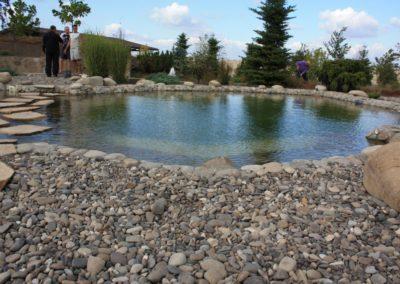 Плавательный пруд с дорожкой