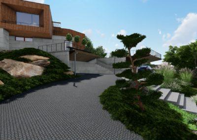 Концептуальное решение двора частного дома