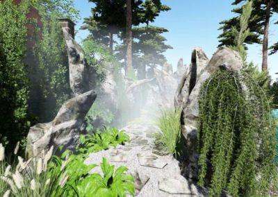 Плавательный пруд со скалами