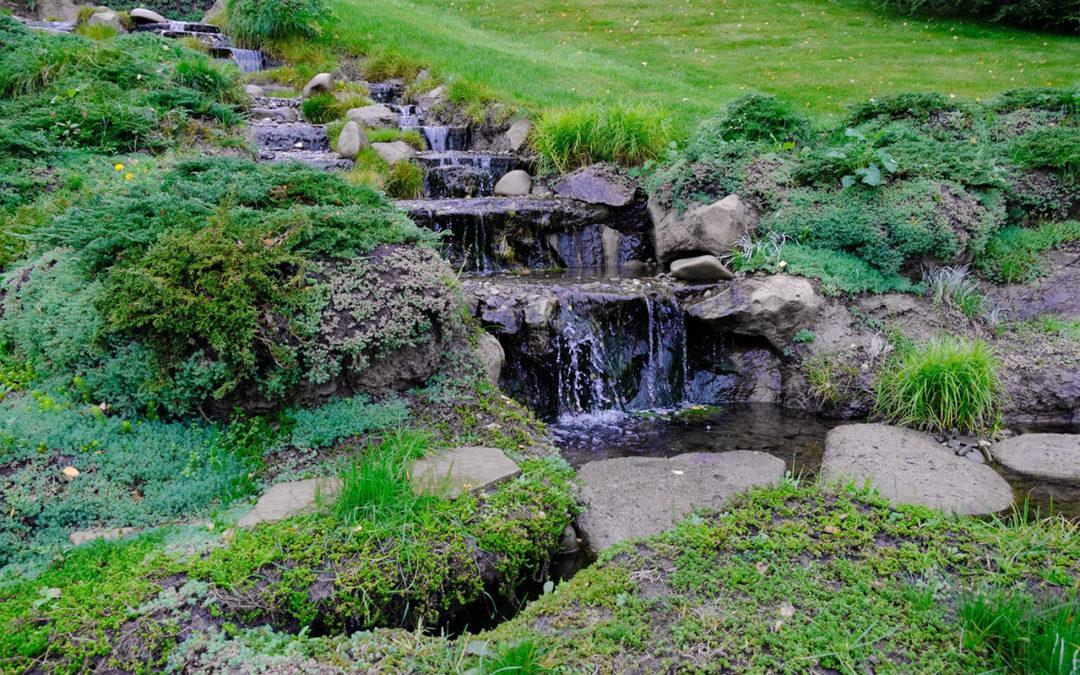 Водопад на склоне