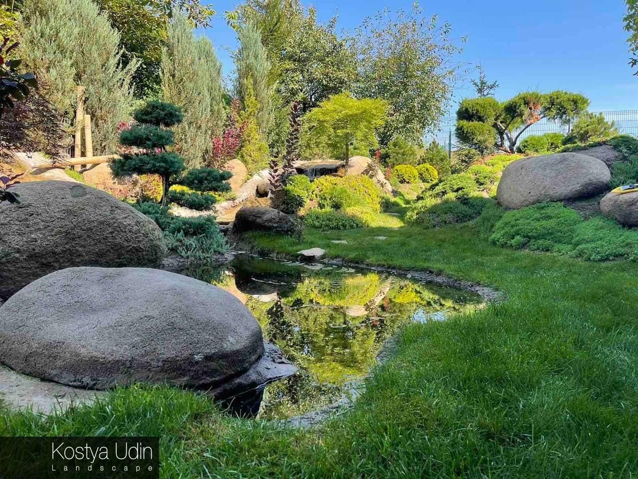 Сад в японской стилистике
